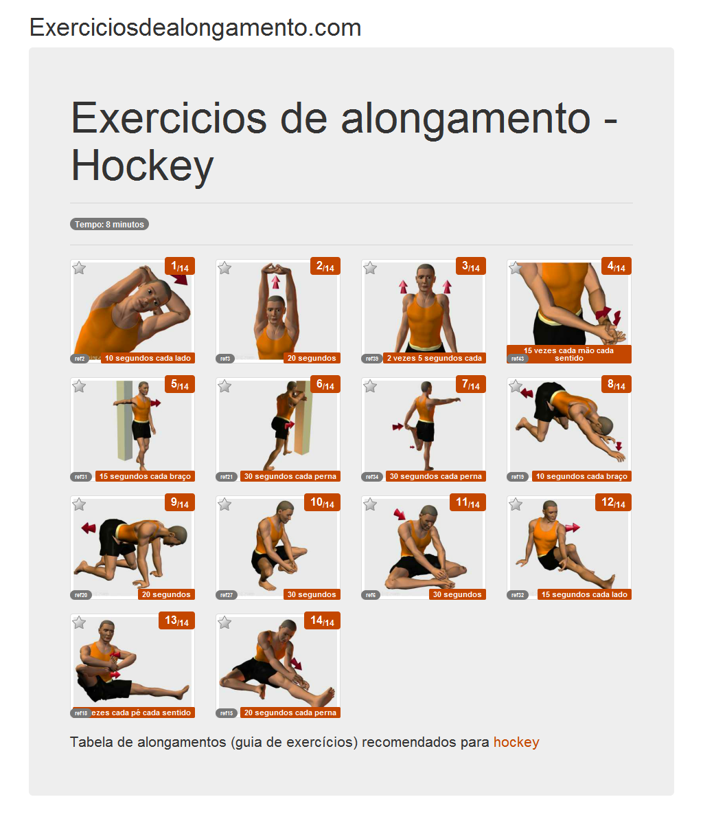 Foto Alongamentos: Hockey